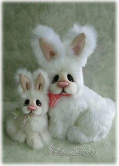 Large and small white bunnies | by Hager Bears