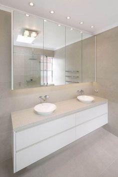 Badezimmer 44 Nice Ideas For Bathroom Cabinet Designs Ensuite Bathrooms, Laundry In Bathroom, Bathroom Renos, Bathroom Cabinets, White Bathroom, Bathroom Renovations, Modern Bathroom, Small Bathroom, Master Bathroom