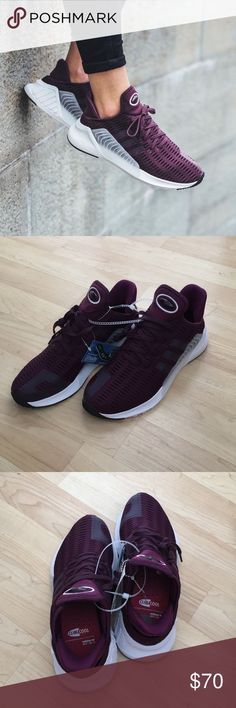 Adidas climacool adv 02-17 shoes New! Doesn't come with box. Only flaw is number written on bottom. Maroon color A blast of nostalgia from the early 2000s, the Climacool training shoe is back as a street-style crossover. These women's shoes update and deconstruct the retro style for 2017. The bootee upper is made in climacool mesh for a snug, breathable fit. The EVA midsole wraps up onto the upper for a fresh look. TPU plug details call back to the design of the original Climacool II. adidas…