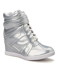 5b2a41edb9473a Shoes of Soul Silver Wedge Sneaker