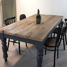 Pin on tables Pin on tables Diy Dining Room Furniture, Farmhouse Dining Room Table, Furniture Makeover, Painted Kitchen Tables, Dining Table Makeover, Furniture Restoration, Diy Table, Repurposed Furniture, Home Kitchens