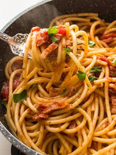 Pasta All'Amatriciana | Community Post: 15 Spaghetti Dishes That Would Make Your Grandma Jealous