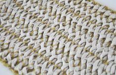 Emma Brooks machine knit with knitted chord. shetland wool / alpaca chord