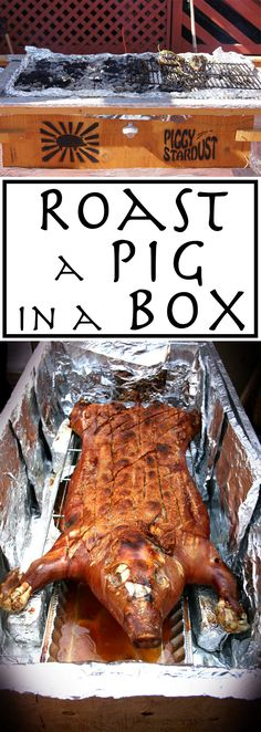 a Caja China ~ Roast a Pig in a Box A great way to roast a whole pig.A great way to roast a whole pig. Roast Recipes, Grilling Recipes, Cooking Recipes, Smoker Recipes, Pig Roast Party, Chicken Cooker, Fire Food, Menu, Carne