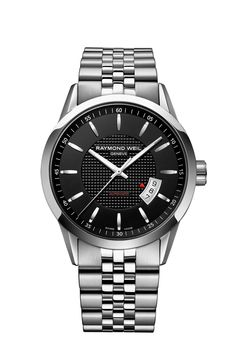 Freelancer 2730-ST-20021 Mens Watches - Automatic date Steel on steel black dial http://www.raymond-weil.com/en/mens-watches/watch-finder/freelancer/freelancer-2730-st-20021/