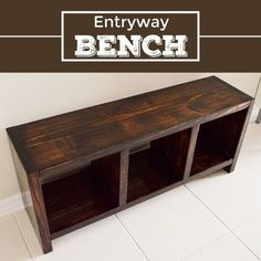 """Ryan is building this bench for the entry (but about 12"""" higher so there will be storage underneath"""
