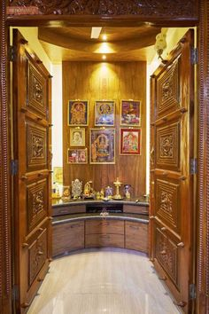 Furniture Design Door pooja room door designs with bells | puja room | pinterest | room