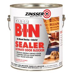 To permanently block odors without changing a surface's appearance, choose Rust-Oleum® Zinsser® CLEAR B-I-N® Sealer. This de-waxed shellac solution eliminates the toughest odors—food, pet urine, cigarette smoke and more—and won't yellow with age.