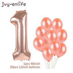 Rose Gold Party Supplies, Birthday Party Decorations, Birthday Parties, Number Balloons, Birthday Numbers, 30 Years Old, Latex Balloons, Wedding Events, Happy Birthday