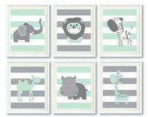 grey and mint nursery furniture sets - From etsy.com