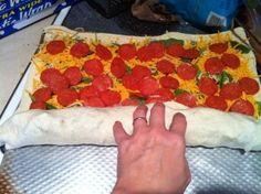 Football Day Pepperoni Bread ~ Easy Tailgate Recipe #Football