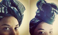 Wrap Star: Hair wrap how-to.