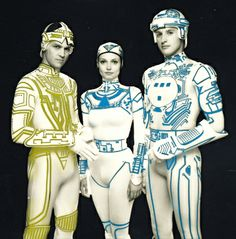 Jeff Bridges, Cindy Morgan, and Bruce Boxleitner from TRON (1982)