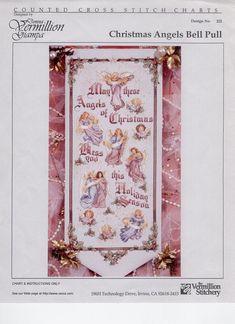 Christmas Angels Blessing - 1/8 Solo Patrones Punto Cruz (pág. 964) | Aprender manualidades es facilisimo.com Victorian Christmas, Christmas Cross, Christmas Angels, Cross Stitch Angels, Cross Stitch Charts, Cross Stitch Patterns, Religious Cross, Cross Stitching, Fiber Art