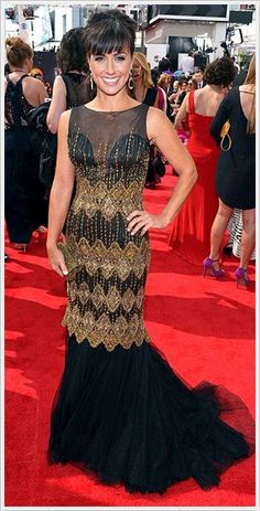 Constance Zimmer wore a Chagoury dress to the 2013 Emmy Awards