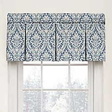 Bring elegance to any window with the Waverly Donnington Damask Box Pleat Cotton Valance. The valance features a classic graphic damask pattern on an elegant ground that instantly bring style to any room in your home. Modern Window Treatments, Valance Window Treatments, Window Treatments Living Room, Window Coverings, Window Valances, Cornices, Box Pleat Valance, Box Pleats, Waverly Bedding