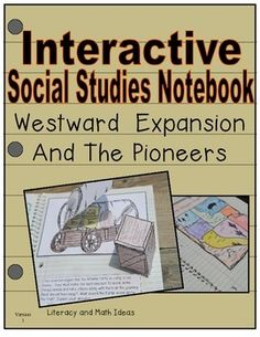 This interactive journal reviews Westward Expansion and pioneer life in a fun way.  Fun writing activities are also included too!  This 49-page interactive journal includes a reading passage for EVERY topic, key vocabulary words, PLUS it includes fun interactive journal inserts.  49 pgs, 3-6.  From Literacy and Math Ideas $