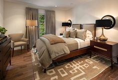 transitional small beige bedroom - Google Search