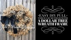 EASY DIY Burlap Wreath Dollar Tree Wreath Frame Tutorial - The world's most private search engine Holiday Burlap Wreath, Easy Burlap Wreath, Chevron Burlap Wreaths, Burlap Wreath Tutorial, Fabric Wreath, Diy Wreath, Tulle Wreath, Winter Wreaths, Burlap Christmas