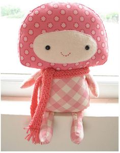Things I'd like to make pink magic mushroom baby mushroom cute kawaii plushie doll