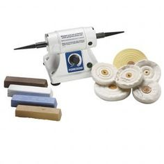 Polisher Set, Foredom® Bench Lathe, Compact Variable-speed Polisher Buffing Polishing Metals Supplies, Approximately 13 X 5-1/8 X 5/16 Inch. Sold Per Set