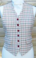 """Ladies 36"""" Tattersall Check Waistcoat. Mears - Detailed item view - The Hunting Shop"""
