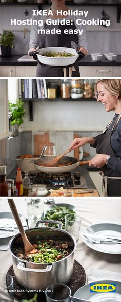 Here's a time-saving tip: Try making a one-pan meal that goes easily from oven to table. Not only do they look pretty on the table, they let you spend more time with holiday guests. Get inspired with IKEA cookware.