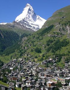 Zermatt, Switzerland, and the Matterhorn...one of my most favorite places...its so beautiful...love it
