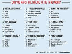 Surprised by how many I got right here. I watch a lot of network TV, I guess.