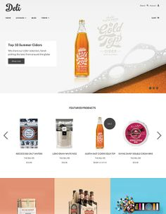 Blockshop theme draws on flat UI design - boasting spacious layouts, block colors, bold typography with a minimal user interface that endures trends with simplicity and style. Deli Preset - 1 of 4 bundled presets included in the Blockshop theme.
