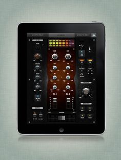 iPad DJ Mixer by BigPitcher , via Behance