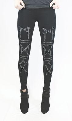 Noir de caleçons longs bâtons runique