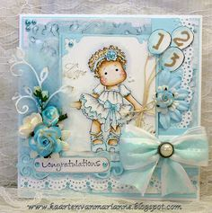 Tilda in ballet shoes from Magnolia stamps