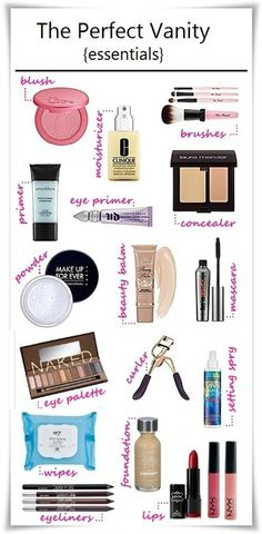 Babblings of a Mommy: Essentials For The Perfect Vanity.