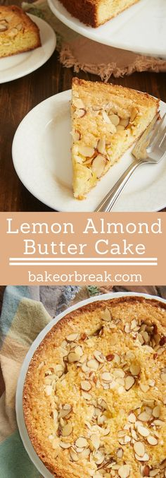 Lemon Almond Butter Cake is a simple, buttery, delicious cake that gets big flavor from plenty of lemon curd. A great cake for everything from brunch to dessert! - Bake or Break ~ http://www.bakeorbreak.com
