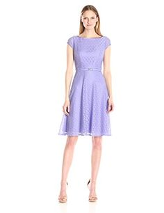 Kasper Womens Cap Sleeve Lace Belted Light Lavender 8 *** Check out the image by visiting the link.(This is an Amazon affiliate link and I receive a commission for the sales)