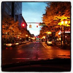 Downtown Portland Oregon early in the morning.