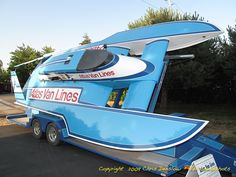 c1980:  Miss Atlas Van Lines Blue Blaster, classic unlimited class hydroplane hydroplanes hydro hydros racing boat boats