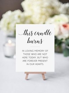 This printable wedding memorial sign is a beautiful way to remember those friends and family who have passed, but you will always love and remember. Just download, print, display and remember those loved ones forever. / HIGH RESOLUTION FILES INCLUDED • 5 x 7 JPG • 8 x 10 JPG • 8 x 10 PDF