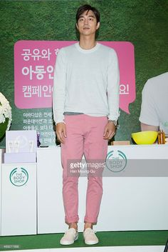 South Korean actor Gong Yoo attends the autograph session For 'The Body Shop' on April 10, 2015 in Seoul, South Korea.