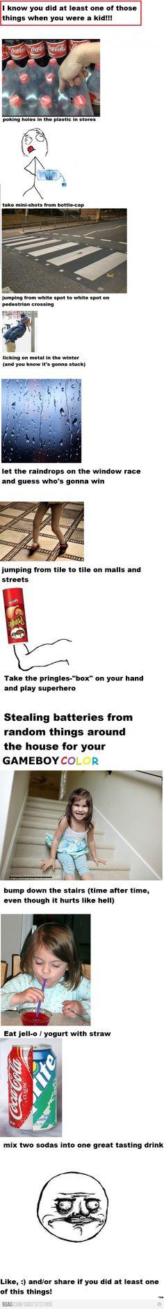haha great! But I didn't do the pole, Pringles, or jello