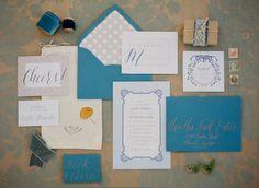 Teal wedding stationery suite via Wedding Sparrow blog - http://weddingsparrow.com