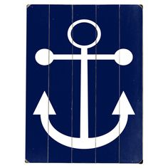 Anchors Aweigh Navy Wall Decor - The Best of Artehouse Nautical wood