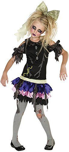 Zombie Halloween Costumes are currently very popular and trendy costume choice for Halloween 2017. Especially true when it comes to both scary, wicked, and sexy women's zombie Halloween costumes and men's Twisted, creepy and spooky zombie Halloween Costumes. Although frightening kids zombie Halloween costumes are also all the rage for Top Halloween Costume Ideas for Halloween 2017. Zombie Doll Costume, Large