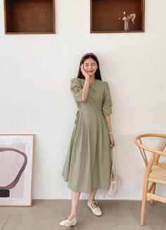 Kpop Fashion, Korean Fashion, Korean Dress, Korean Style, Frocks, Asian, Shirt Dress, Makeup, Shirts