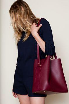Angela Roi Jules Bucket - Bordeaux  Shop more vegan bags on shop.addresschic.com