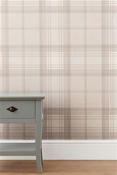 Buy Natural Check Wallpaper from the Next UK online shop