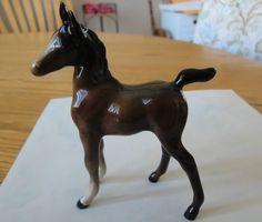 """Beswick Horse Arab  Foal Model 1407 Brown Gloss,  4-1/4"""" #Beswick"""