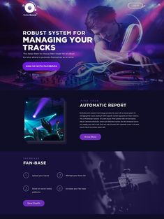 20 stunning web design ideas that will get everyone clicking - Webpage Layout, Web Layout, Layout Design, Design Web, Web Design Trends, Music Website Templates, Web Design Inspiration, Design Ideas, Music App