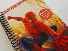 Notebook, 4.00 X 7.25, 85 pages, VHS Video Box, Upcycled Notebook, Spiderman, Blank Book, VHS Notebook, Journal, Matching Bookmark by LeeEmporium on Etsy